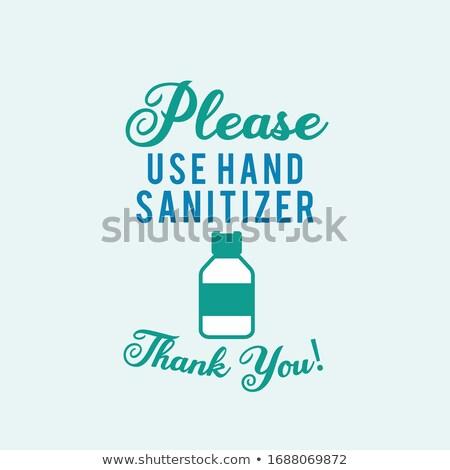 Please use hand sanitizer illustration concept coronavirus Covid-19. Corona virus from Wuhan China.  Stock photo © JeksonGraphics