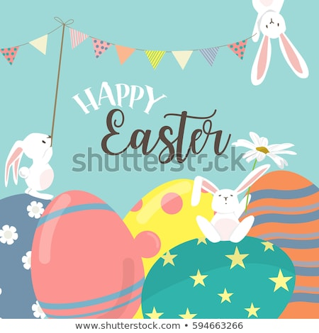 Joyeuses pâques jour joyeux printemps heureux Photo stock © SArts