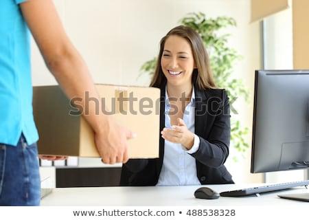 メッセンジャー サービス オフィス 女性 送信 紙 ストックフォト © jossdiim