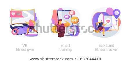 Wearable devices abstract concept vector illustrations. Stock photo © RAStudio