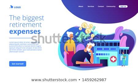 Salud gastos aterrizaje página seguridad social seguro de salud Foto stock © RAStudio