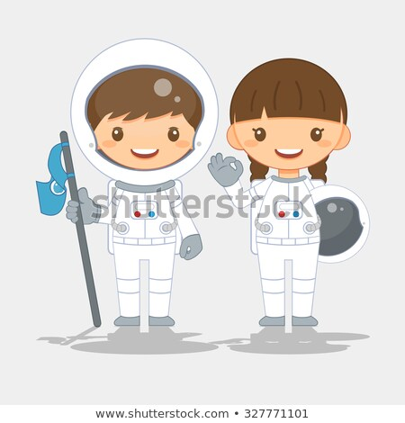 pretty astronaut girl stock photo © kakigori