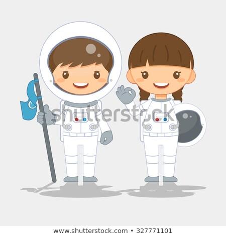 Bastante astronauta menina moda espaço Foto stock © Kakigori