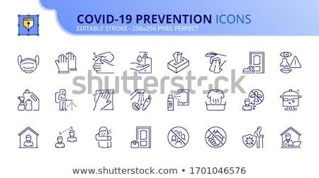 Coronavirus blijven werk home zakenman werken Stockfoto © -TAlex-