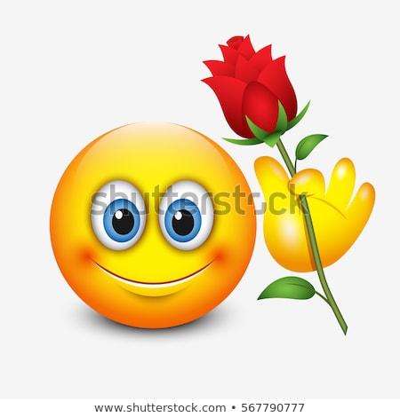 Love, romantic emoji vector illustration Stock photo © barsrsind