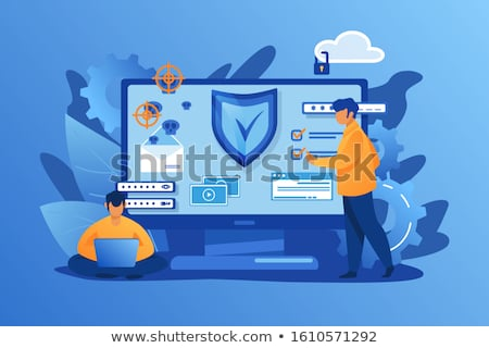 Data leakage concept landing page Stock photo © RAStudio