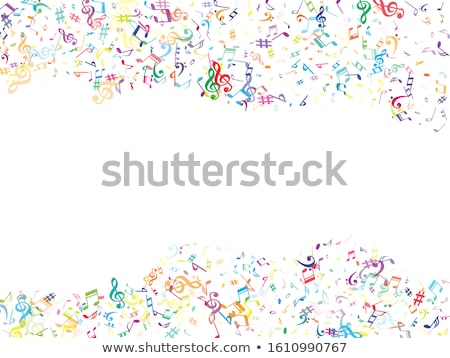 Colorful music notation drawing on white Stock photo © Ansonstock