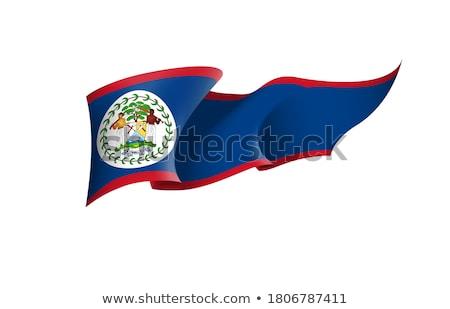 Belize zászló fehér festék felirat ecset Stock fotó © butenkow