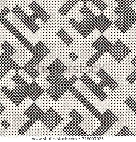 Stylish halftone texture. Endless abstract background with random size shapes. Vector seamless mosai Stock photo © samolevsky
