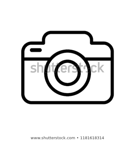 Stock photo: photographic camera device lens flash graphic