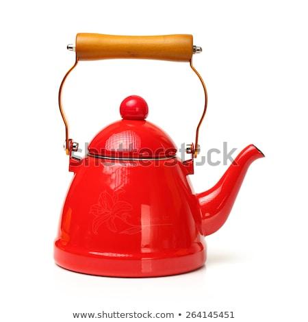 Vermelho assobiar isolado branco comida Foto stock © dmitry_rukhlenko