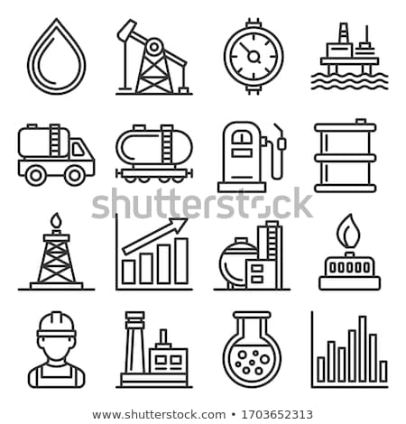 газ трубопровод икона вектора иллюстрация Сток-фото © pikepicture