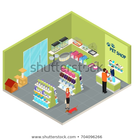 Pet Shop isometric icon vector illustration Stock photo © pikepicture