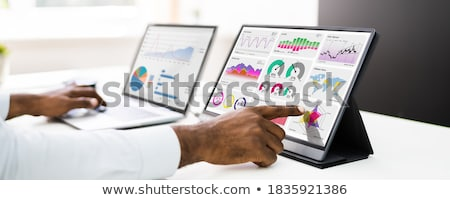 Business Analyst Daten Analytik Monitor Computer Stock foto © AndreyPopov