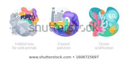 Ocean acidification abstract concept vector illustration. Stock photo © RAStudio
