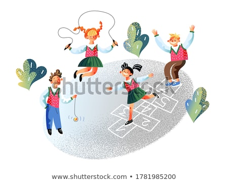 Pupils Active on School Yard, Classmate Vector Stock photo © robuart