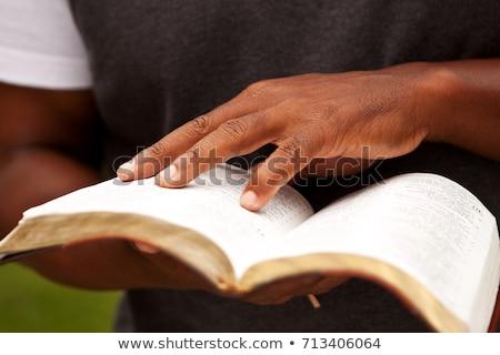 açmak · İncil · granit · kitap · dokular - stok fotoğraf © morrbyte