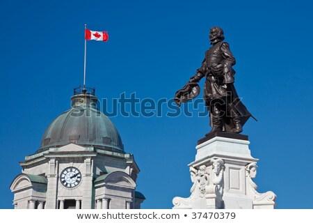 Edad oficina de correos reloj torre Quebec ciudad Foto stock © aladin66