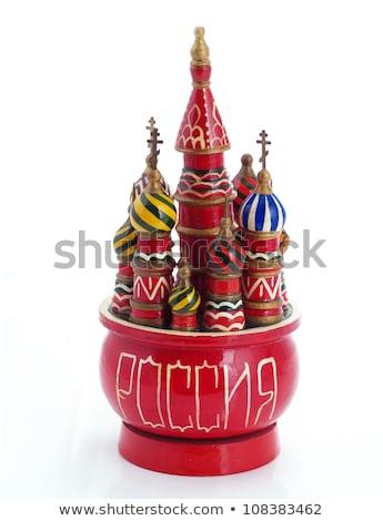 Játék Vaszilij Blazsennij-székesegyház terv piros építészet karácsony Stock fotó © Paha_L