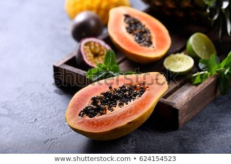 新鮮な · おいしい · 食品 · 背景 · オレンジ · 緑 - ストックフォト © bbbar