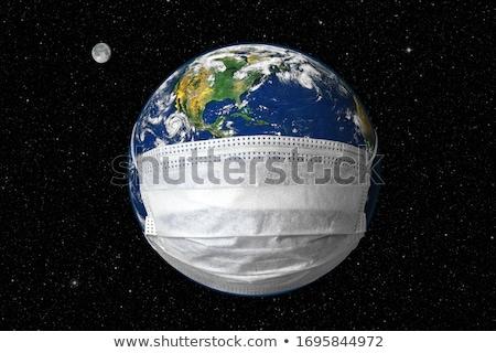 3次元の図 · 外国 · 月 · 地平線 · 世界 · 背景 - ストックフォト © spectral