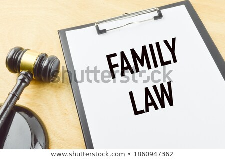 Holding a wooden gavel over the law book Stock photo © broker