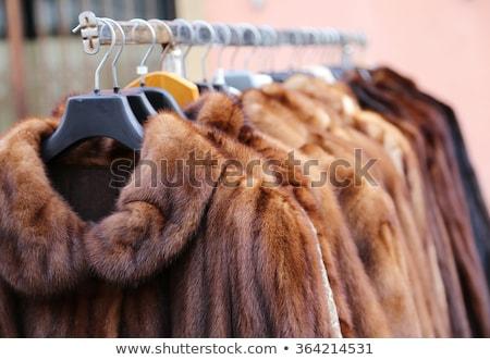 Stockfoto: Pels · mooie · blond · naakt · vrouw · sexy