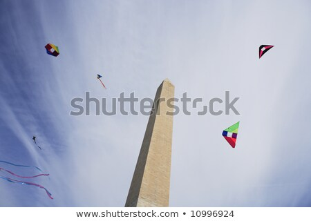 Kite Washington Monument vliegen Washington DC vakantie toren Stockfoto © rabbit75_sto