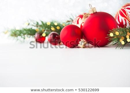 クリスマスツリー · ぼやけた · 光 · 背景 · 赤 · 金 - ストックフォト © prill