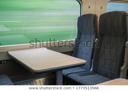 Railroad seen from a fast moving train. stock photo © lightpoet