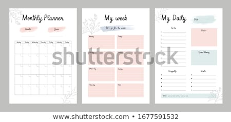 planner stock photo © pkdinkar