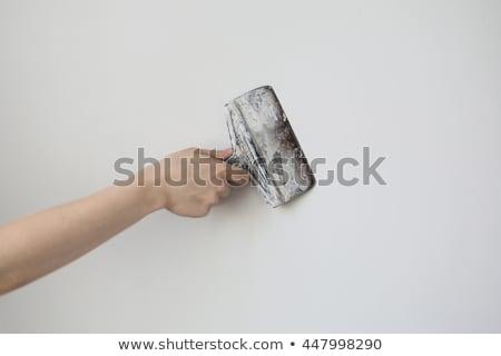 Man skimming plasterboard Stock photo © photography33