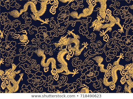 golden chinese dragon stock photo © pinkblue