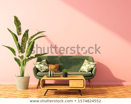 White sofa and chair in the room Stock photo © artvitdiz