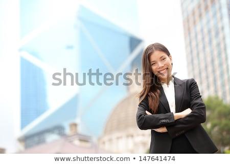Hırslı kadın ev gülümseme mutlu genç Stok fotoğraf © photography33