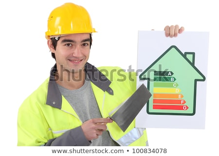 Builder advising people to reduce energy consumption Stock photo © photography33
