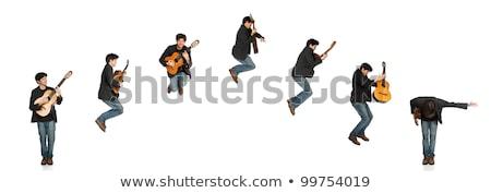 Guitar Player Jumping Sequence Stock photo © Melpomene