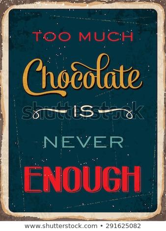 Nooit genoeg chocolade jonge brunette dessert Stockfoto © lithian
