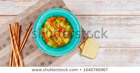 スープ ボウル トマトスープ 緑 場所 つる ストックフォト © stevemc