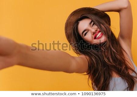 fotografo · immagini · isolato · donna - foto d'archivio © stockyimages