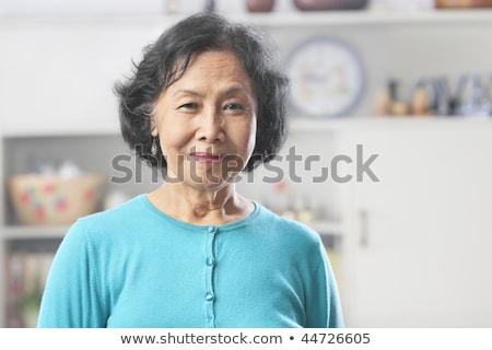 笑い · アジア · 女性 · 白 · 笑顔 - ストックフォト © szefei