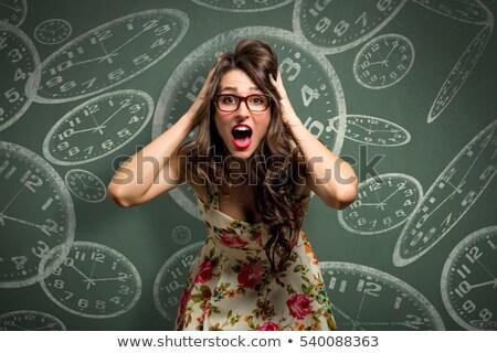 Biyolojik saat kadın eller zaman hayat Stok fotoğraf © photography33