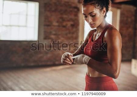 Atléta boxeralsó görög művészet stilizált box Stock fotó © sahua