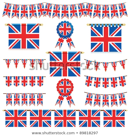 united kingdom rosette flag stock photo © milsiart