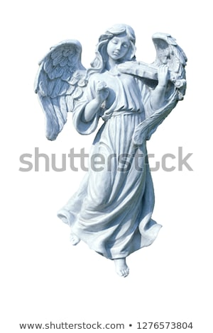 cute · piccolo · angelo · pregando · focus · ali - foto d'archivio © arsgera