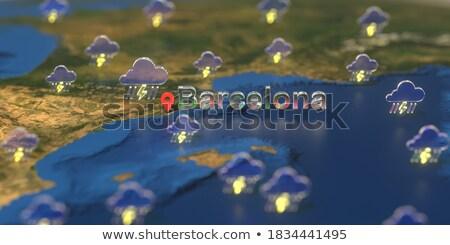 бурный Барселона панорамный мнение небе здании Сток-фото © photosil
