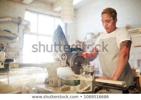 Woman using workbench Stock photo © photography33