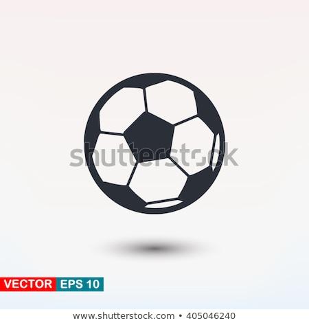 Voetbal pictogram borstel stijl voetballer Stockfoto © zooco
