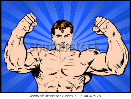 Cartoon man will have muscle video