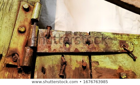 corroded hinge detail Stock photo © prill